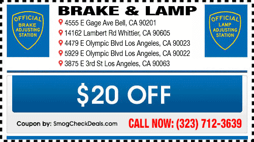 Brake and lamps inspection - Five STAR Certified Locations - (323 ...